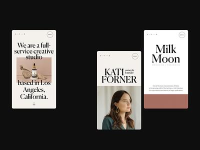 Kati Forner Mobile Designs design typography promo interface website web ux ui
