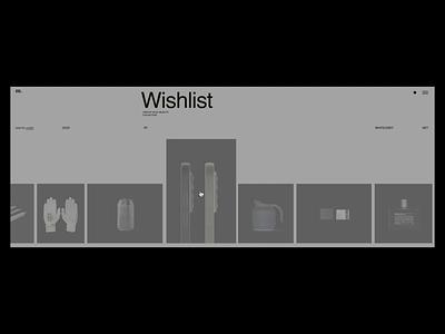 M. Editorial Website Wishlist Animation interaction negative video typography promo interface animation website web ux ui