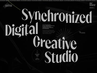 Synchronized Studio is SOTD on Awwwards studio motion typography interaction video promo interface animation website web ux ui