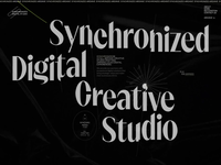 Synchronized Studio is SOTD on Awwwards studio motion typography interaction video promo interface animation website web ux ui