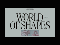 world of shapes3 3d motion interaction typography promo interface animation website video web ux ui