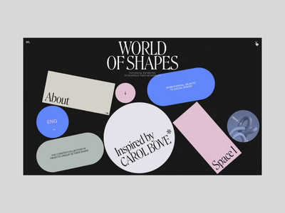 World of Shapes Menu Animation cinema4d motion interaction typography interface promo video animation website web ux ui