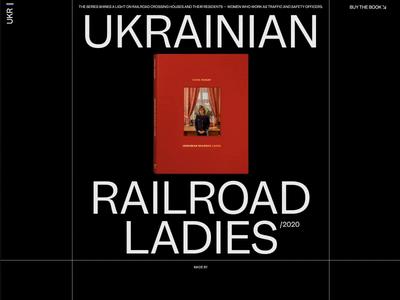Ukrainian Railroad Ladies animation motion grid interaction typography promo video website web ux ui