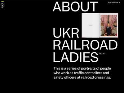 Ukrainian Railroad Ladies About Page Animation photographer about motion interaction typography promo interface animation website video web ux ui