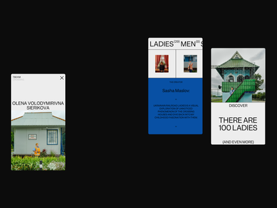 Ukrainian Railroad Ladies Mobile Designs design photo grid typography interface promo website web ux ui