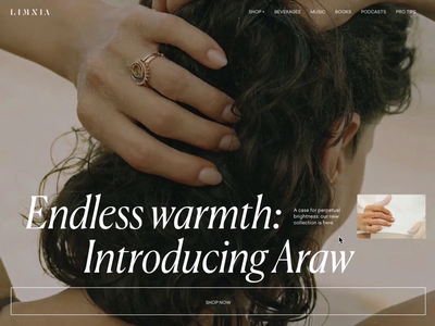 Limnia Araw Collection motion interaction typography promo interface animation website video web ux ui