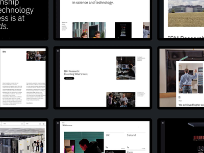 IBM Research New Website design motion interaction typography interface animation video website web ux ui