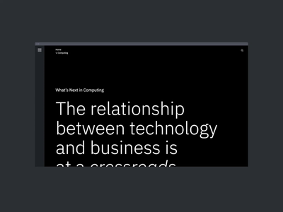 IBM: What's Next in Computing interaction motion typography promo interface animation video website web ux ui