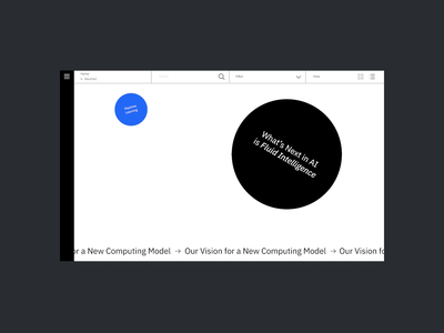 IBM Research Hover hover video animation website web ux ui