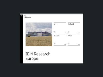 IBM Research Website Hover Animation interaction motion video typography promo interface animation website web ux ui
