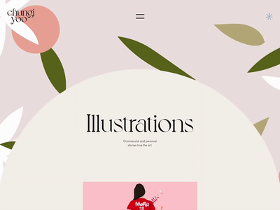 Chungi Folio Illustrations Page illustrations motion interaction typography promo interface animation video website web ux ui