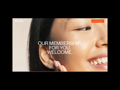 Hi, Skin Membership Page grid motion interaction video typography promo interface animation website web ux ui