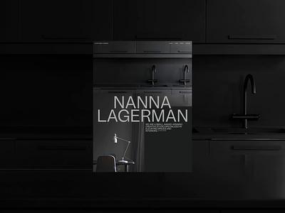 Nanna Lagerman Folio SOTD on AWWWARDS! zhenyary zhenya motion interaction typography promo interface video animation website web ux ui