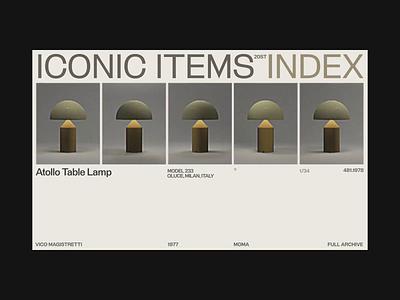Zhenyary Iconic Items Exploration video zhenyary zhenya 3d cinema typography promo interface animation website web ux ui