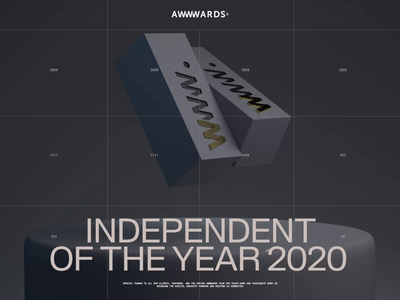 Independent of the year 2020 on Awwwards interaction zhenyary zhenya typography promo video interface animation website web ux ui
