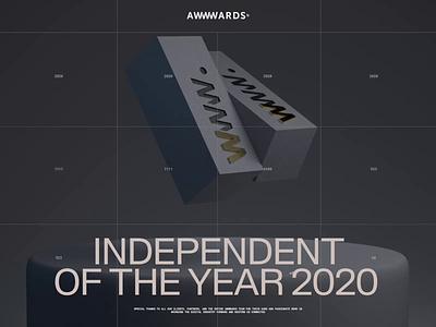 Independent of the year 2020 on Awwwards interaction zhenyary zhenya typography promo video interface animation website web ux ui