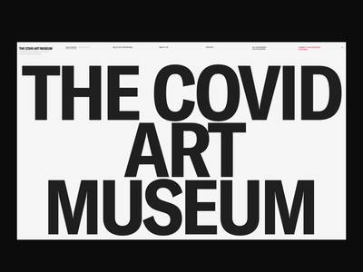 The Covid Art Museum interaction typography promo synchronized zhenyary zhenya video interface animation website web ux ui