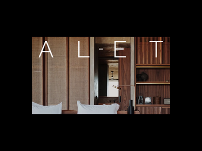 Alet Homepage Animation homepage typography promo interface animation synchronised.studio synchronized zhenyary zhenya video website web ux ui
