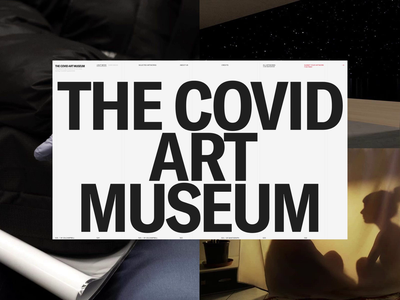 Covid Art Museum SOTD on Awwwards typography interface promo awwwards synchronized.studio synchronized zhenyary zhenya animation website web ux ui