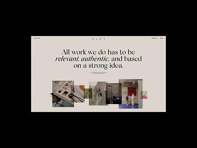 Alet About Animation typography promo interface animation synchronized.studio synchronized zhenyary zhenya video website web ux ui