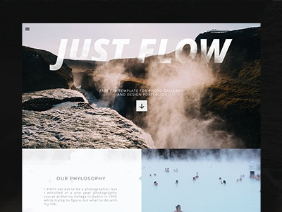 Free PSD template for photo galleries and portfolios psddd free-web preepsd webdesign psd free-psd free