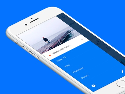 inbox client redesign concept ux ui mobile concept mail mail.ru iphone ios app