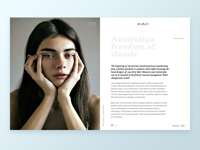 Supera article page site layout fashion clothes brand article blog simple website web