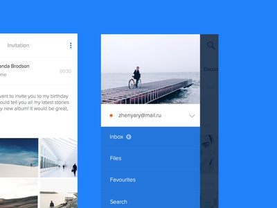 Mail.ru menu concept ux ui application mail.ru ios app
