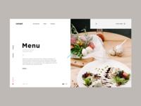 Canape menu page
