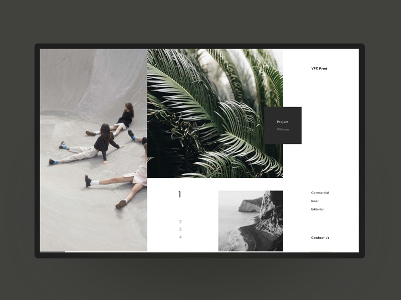 VFX Content Production Studio Website works production video photo promotion product interface ux ui