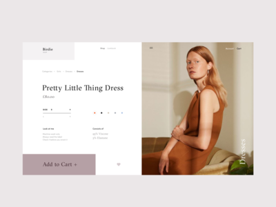 Birdie Fashion Store Product Page ux ui shop interface grid girls gif fashion e-commerce concept categories anim
