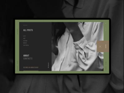 Clarks Art & Lifestyle Blog Open Menu active ui ux interface photos blog menu post green fashion lifestyle art