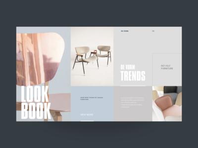 DeVorm Lookbook designer interior exhibition collection ux ui website promo chairs furniture form lookbook