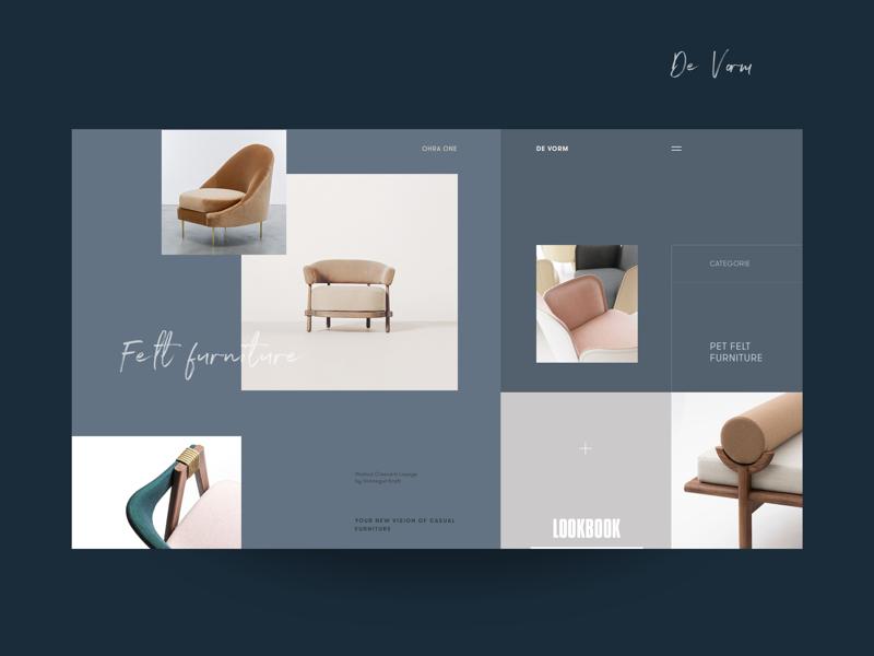 DeVorm Lookbook Inner Page lookbook form furniture chairs promo website ui ux collection exhibition interior designer