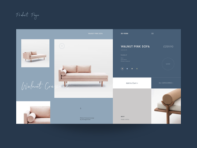 DeVorm Designer Interior Store Product Page product form furniture sofa promo website ui ux collection exhibition interior designer