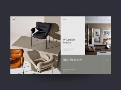 W Media Interior Design Blog Homepage designer interior exhibition collection ux ui website promo classy furniture form blog