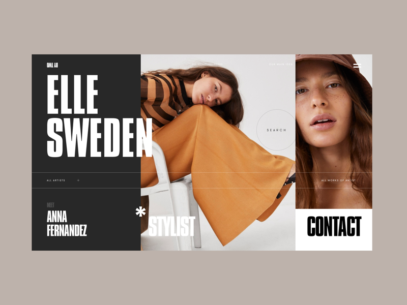 By Two Creative Platform photos imagery editorial fashion marketplace concept ui ux web style grid typography