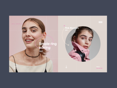 Dia Amarillo Collections Page concept website ux ui kids women spring collections fashion e-shop e-commerce designer