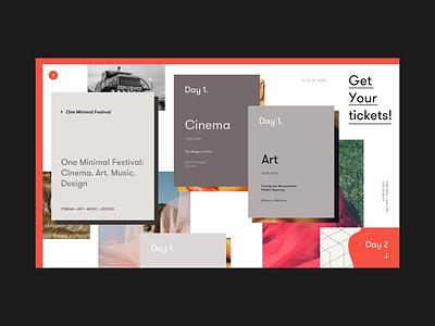 One Minimal Festival Schedule Alternative Version festival schedule tickets grid concept cinema art design music ui ux promo
