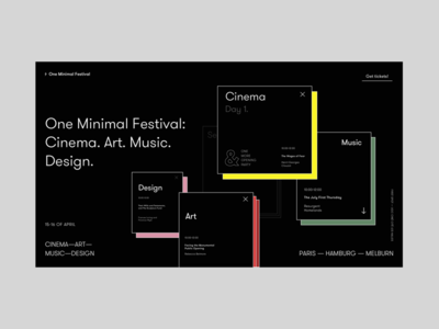 One Minimal Festival Homepage Alternative Version