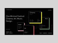 One Minimal Festival Homepage Alternative Version