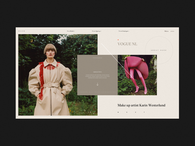 HASH Platform Model Preview Page vogue photography art direction preview model promo photo homepage typography blog artist design fashion website concept interface grid web ux ui