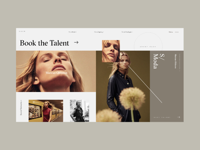 HASH Platform Photographer Preview Page book highlight showcase preview photographer talent typography logo photo homepage design fashion website concept interface grid web ux ui