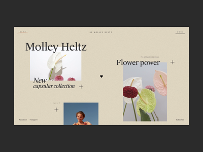 Molley Heltz Blog Animation flowers shop e-commerce typography blog photo interaction motion design mp4 fashion concept website anim interface grid web animation ux ui