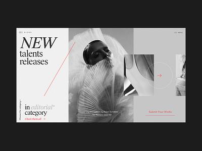 Blown Art Works and News Platform Alternative Homepage talent photo inspiration designmoo works art platform logo typography promo homepage design fashion concept website interface grid web ux ui