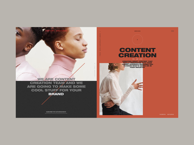 Content Universe Homepage Services Section Сontent color production promo brand services layout photo content creation universe typography content design concept website interface grid web ux ui
