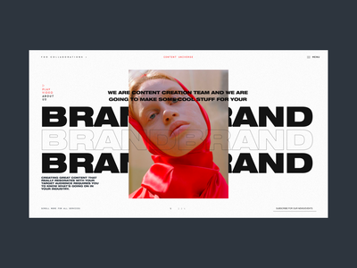 Content Universe Promo Page Alternative Layout portfolio agency services homepage promo branding typography model photo logo design concept website interface grid web ux ui