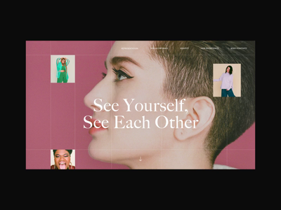 See Yourself See Each Other Landing Page Animation fashion typography photo design models beauty ulta allure landing promo interaction motion anim website interface grid animation web ux ui