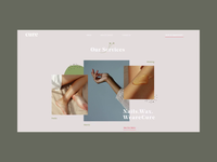 Cure: Unique Nail & Wax Boutique Homepage Animation