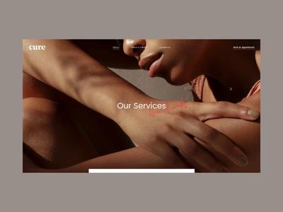 Cure: Unique Nail & Wax Boutique Menu Page Animation